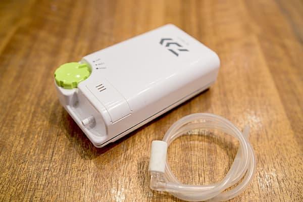乾電池タイプのエアーポンプ