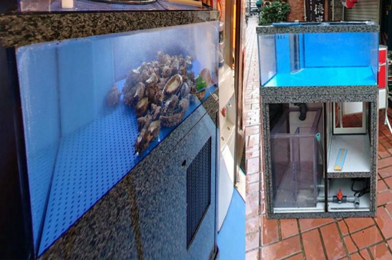 改造前の中古活魚水槽
