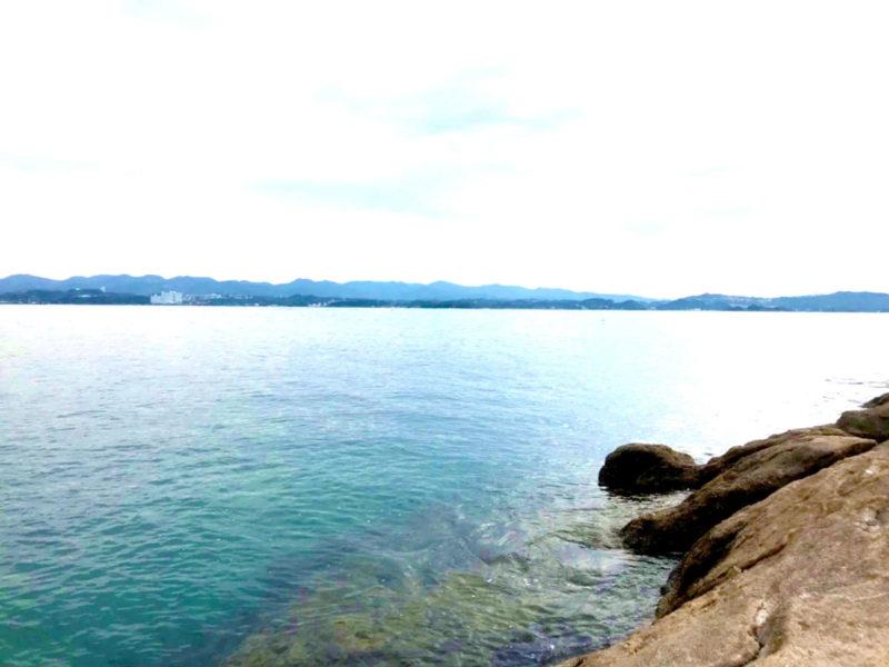 海水魚水槽用の海水を汲みに白浜の海へ