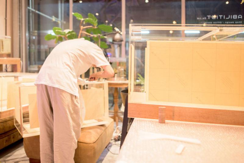 水換え不要の活魚水槽の製造製作中